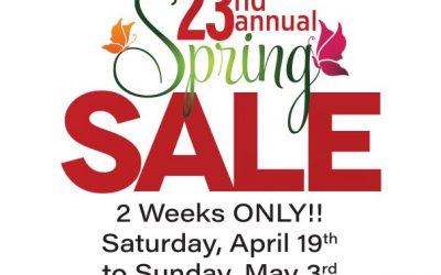 23rd Annual Spring Sale Update