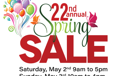 Join Us for Our 22nd Annual Spring Sale and BBQ: May 2-3