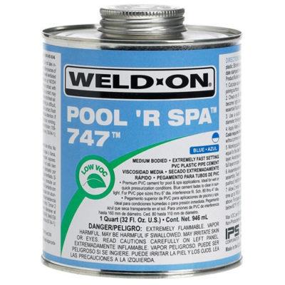 1/4 Pint 747 Pvc Pool 'R' Spa Cement - Blue - Total Tech Pools Oakville
