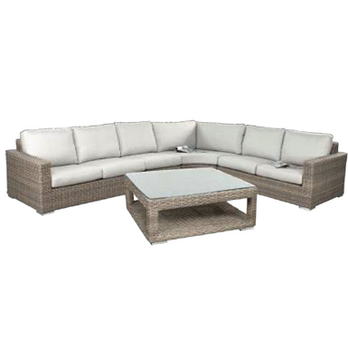 Driftwood Timbavati 4 Pc Sectional With Table Cast Slate - Total Tech Pools Oakville