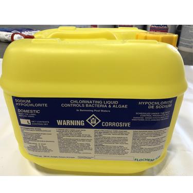 Liquid Chlorine Container 10L W/Vented Cap - Total Tech Pools Oakville