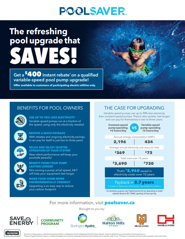 Instantly Save $400 When You Upgrade to a Variable-Speed Pool Pump!