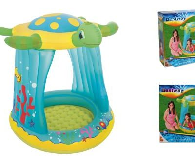 """43""""x38""""x41"""" Turtle Totz Covered Play Pool - Total Tech Pools Oakville"""
