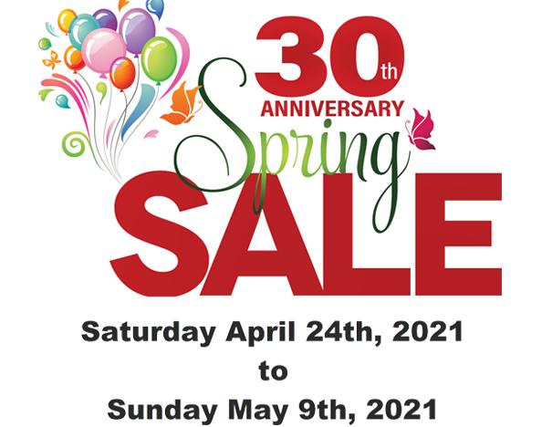 oakville spring sale 2021